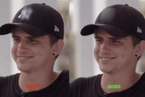 blur goed fout jongen cap